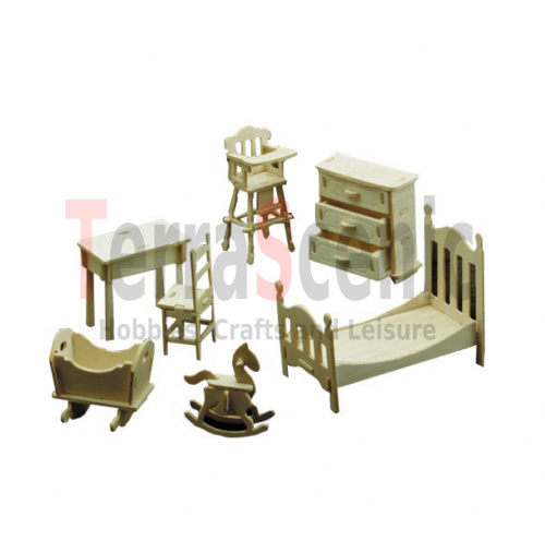 Dolls House Furniture Kit 1:12 Scale Nursery